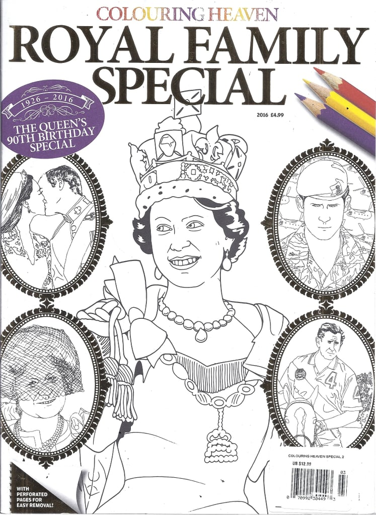 Royal Family Coloring Book | Royal Family Stocking Stuffers ...