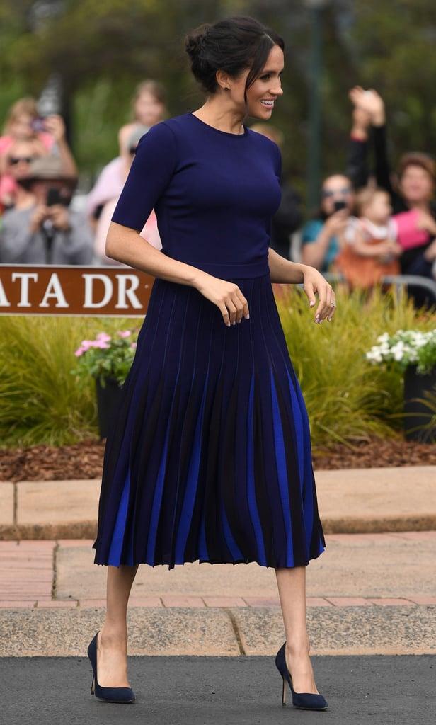 1e9b10c7f Meghan Markle Givenchy Pleated Skirt in New Zealand 2018 | POPSUGAR Fashion