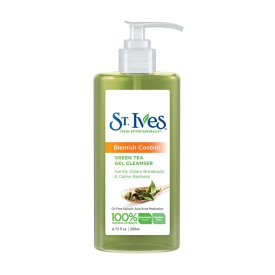 The new St. Ives Blemish Control Green Tea Gel Cleanser ($6) features salicylic acid to bust blemishes before they have a chance to pop up, and the green tea helps to calm redness from current breakouts.
