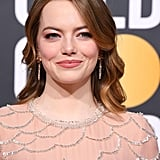 Emma Stone at the 2019 Golden Globe Awards in Rose Gold Shadow