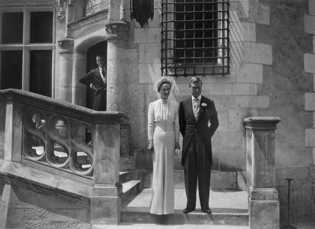 The Duke of Windsor and Wallis Simpson The Bride: Wallis Simpson, a twice-divorced American. The Groom: Edward, Duke of Windsor, the former king of England who renounced his throne to marry. When: June 3, 1937. Where: Chateau de Candé, Monts in France, where they fled after the abdication crisis.