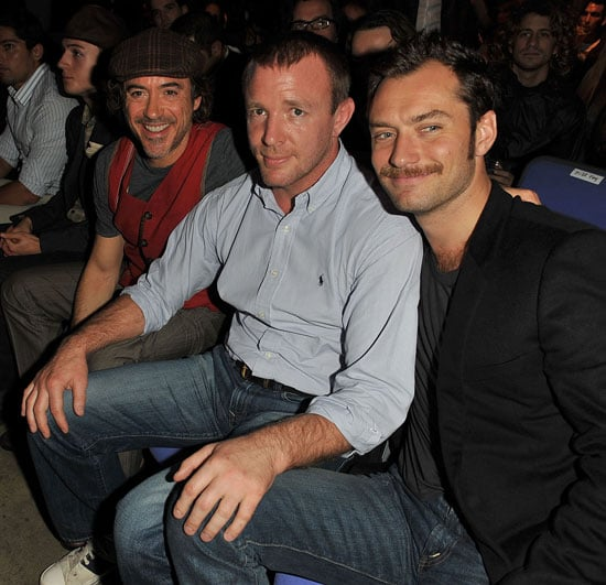 Jude Law, Robert Downey Jr and Guy Ritchie at UFC