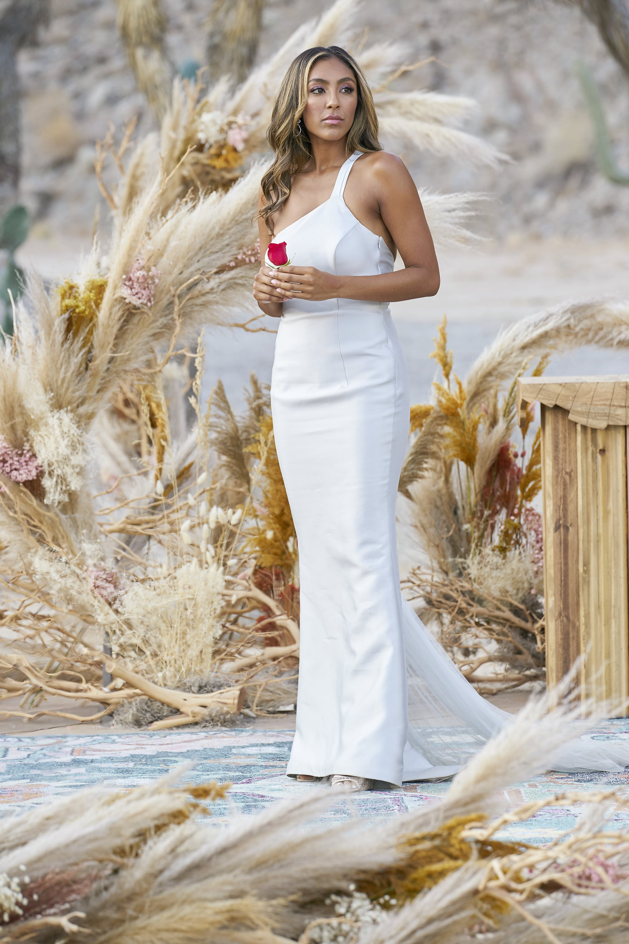 THE BACHELORETTE - 1613  Season Finale  After a shocking rose ceremony, Tayshia is excited to introduce the remaining bachelors to her family. Will the men win over her family? Her father voices concerns that she might make a big mistake. When proposal day arrives, Tayshia is so overcome with emotion that not even Chris Harrison can read her tears. Will Tayshia bravely step into the future she has been dreaming of or will she be too scared of repeating her past? Find out on The Bachelorette, TUESDAY, DEC. 22 (8:00-10:01 p.m. EST), on ABC.