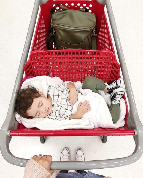 Toddler Asleep in Target Carts