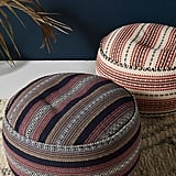 Cheyenne-Striped Pouf
