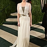 Emmy Rossum arrived at the Vanity Fair Oscar party on Sunday night.