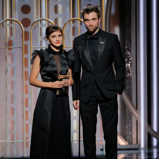 Emma Watson and Robert Pattinson at Golden Globes 2018