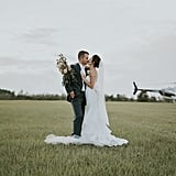 The Groom of This Elegant Farm Wedding Is a Pilot, So Naturally They Flew Off in a Helicopter