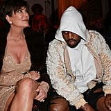 Kris Jenner and Kanye West Sat Front Row