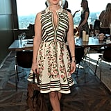 Flirty and floral at Piaget's Hollywood Lunch in February 2011.