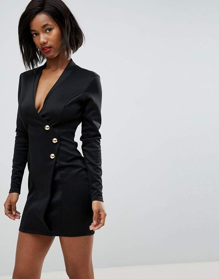 a6e0aa0a4 Club L Scuba Blazer Wrap Dress | These 14 Dresses From ASOS Are Chic ...