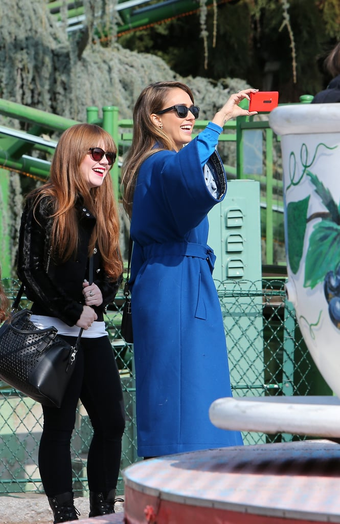 Jessica Alba documented all of Honor's cute amusement park moments.
