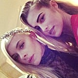 Jaime King and Teresa Palmer pouted for the Met Gala.  Source: Instagram user jaime_king