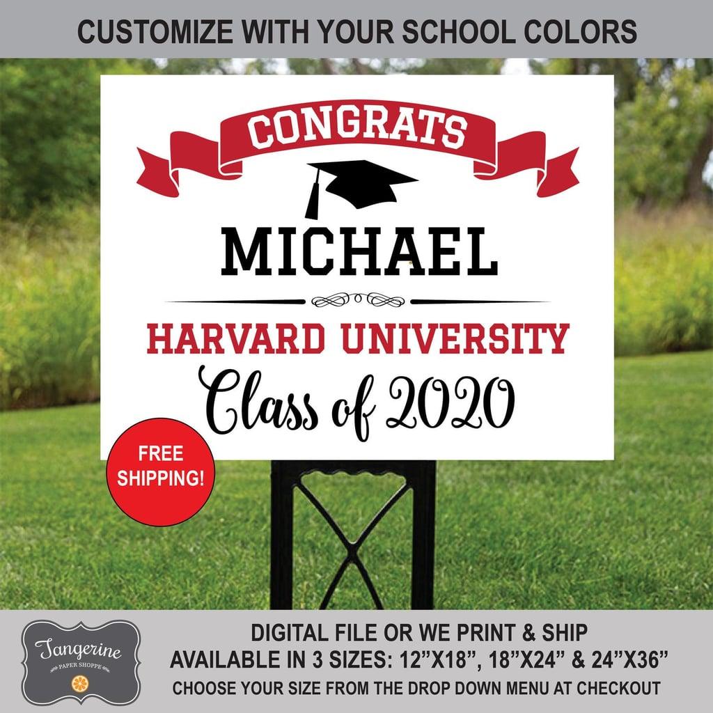Graduation Yard Sign 2020 Grad Finished Under Quarantine 23 Inches