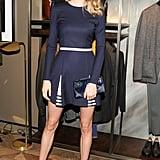 Lindsay Ellingson at Berluti's Madison Avenue store opening.