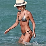 Julianne Hough wore a sequined string bikini in Miami.