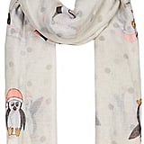 A dancing penguins scarf (£8) makes dressing for cold weather a little more enjoyable!