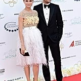 Diane Kruger and Joshua Jackson walked the red carpet together in Monte Carlo.