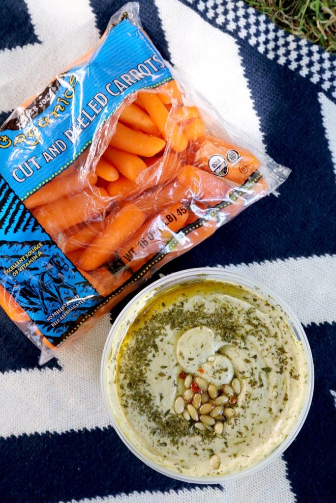 White Bean and Basil Hummus ($4)