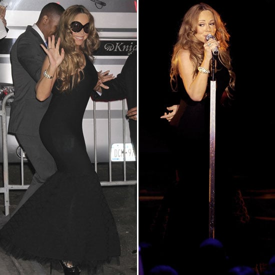 Mariah Carey Pictures in Tight Black Dress