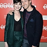 Anne Hathaway and her husband, Adam Shulman, posed at her Song One premiere on Monday.
