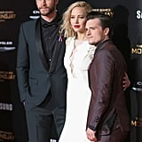 Pictured: Josh Hutcherson, Liam Hemsworth, and Jennifer Lawrence