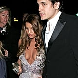 John Mayer escorted a brunette Jessica Simpson to NYC's Met Costume Gala in May 2007.