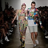 Miley Cyrus and Jeremy Scott Walk the Designer's Spring 2015 Runway
