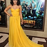 Vanessa Hudgens attended the premiere of Journey 2: The Mysterious Island.