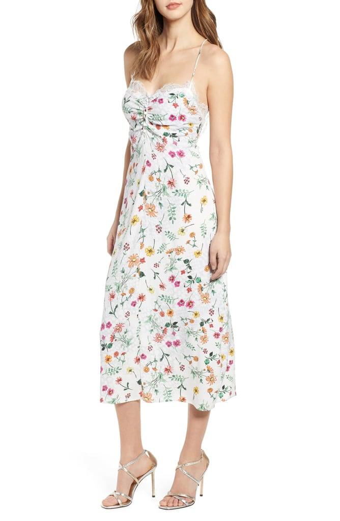 AFRM Clyde Lace-Trim Midi Dress