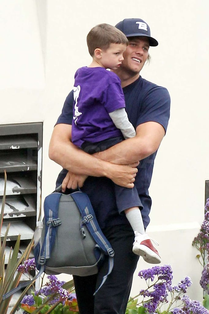 Tom Brady flashed a smile as he carried Jack.