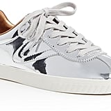 Tretorn Camden 2 Metallic Leather Low Top Lace Up Sneakers