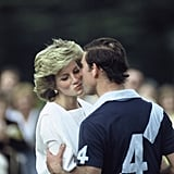 They shared a quick kiss at a polo match in 1985.