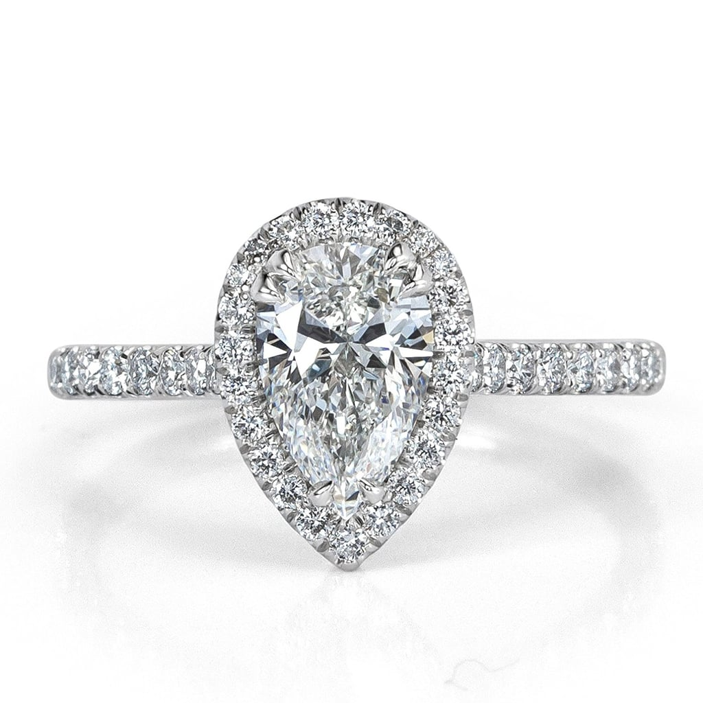 products shaped design vintage rings ring halo odiz shiree diamonds engagement pear