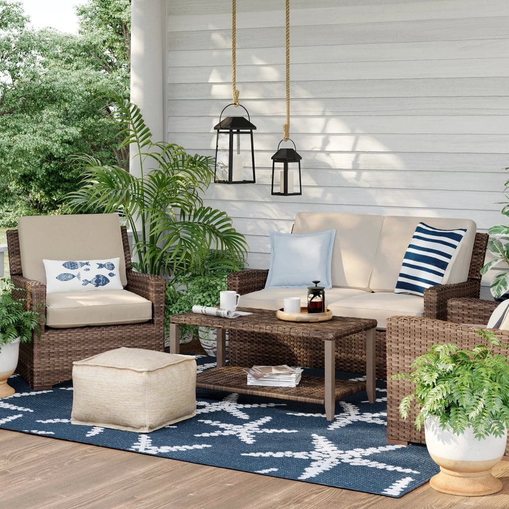 Halsted 4-Piece Wicker Patio Furniture Set