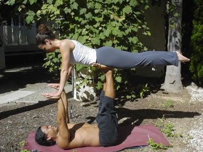 get physical airplane pose  popsugar fitness