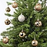 Vinterfest White and Gold Ornaments Set