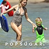 Naomi Watts hit the water with Kai.
