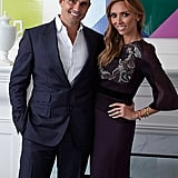 Bill and Giuliana posed together in the living room of their Chicago home.
