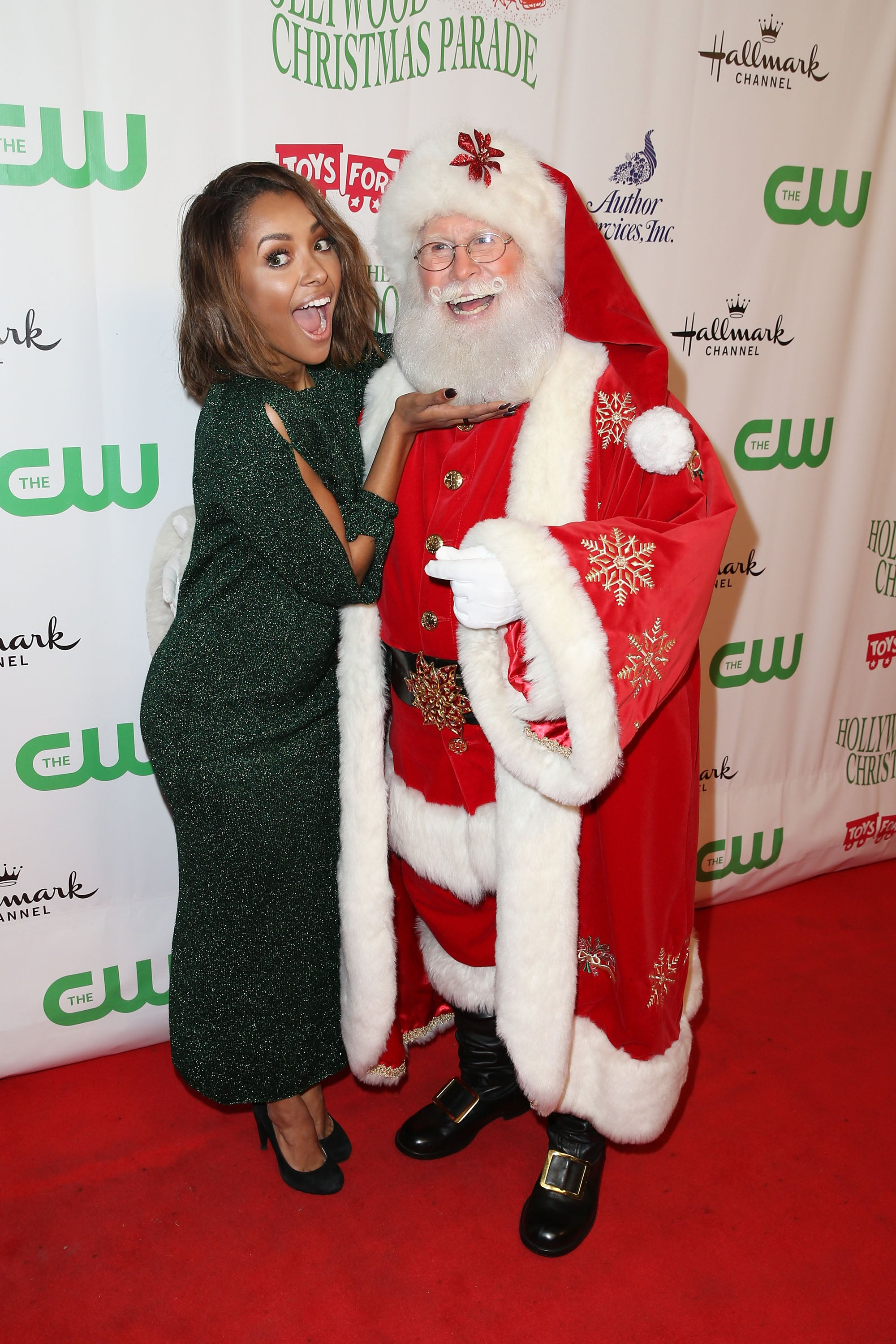 The Christmas Parade Hallmark.Kat Graham Got Silly With Santa Claus At The 84th Annual