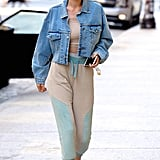 Think these pants can't be sporty? Gigi Hadid put the cool spin on a pair of high-waisted pants with a hoodie.