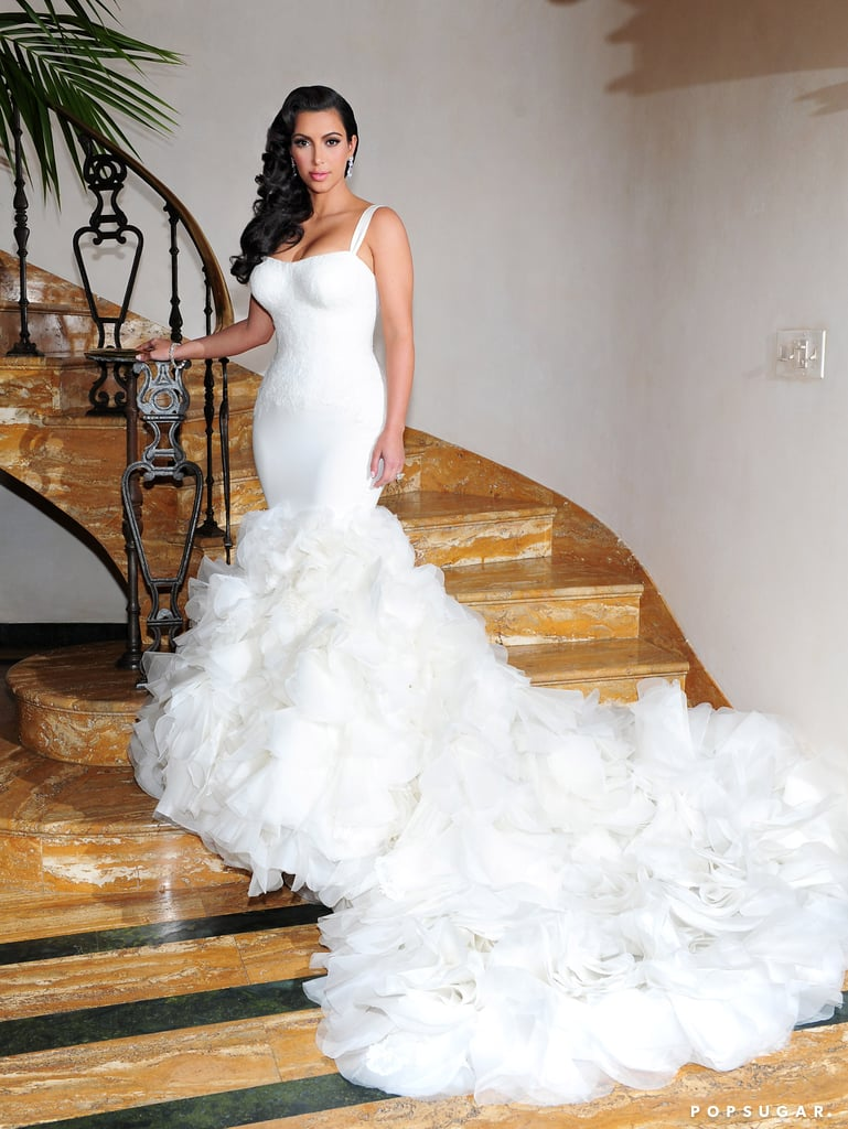 Kim said this Vera Wang gown was actually her favorite of the three.