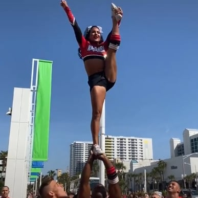 Watch Navarro Cheer's Behind-the-Scenes Stunts at Daytona