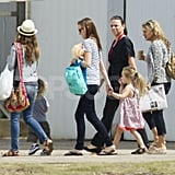 Jennifer Meyer went with her husband to a zoo in Australia.