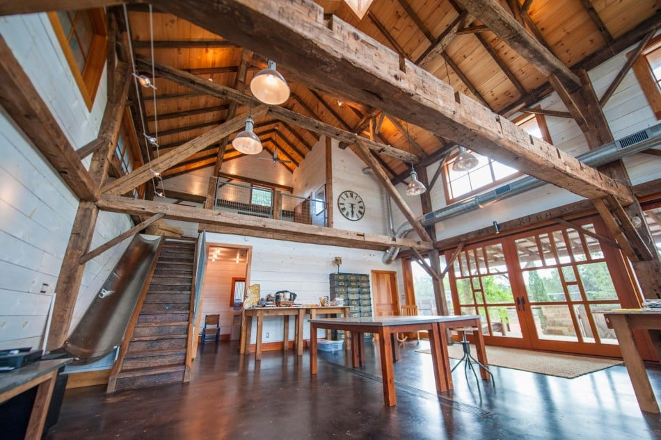 This Barn Was Restored With the Absolute Coolest Addition We've Ever Seen