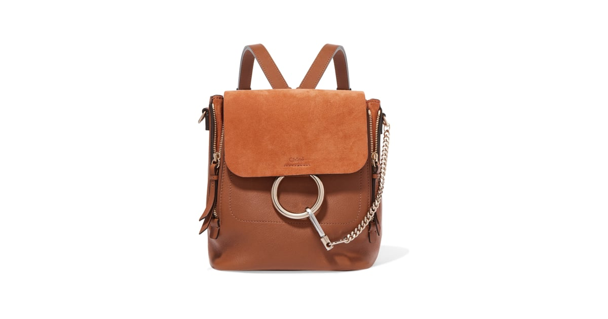 Chloé Faye Small Leather And Suede Backpack  1c6f2355d4bb1