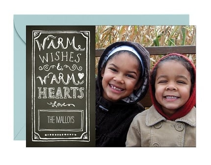 Paper Source Warm Wishes Chalkboard Card