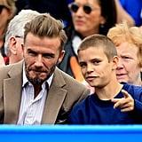 David and Romeo Beckham at Aegon Championships 2016