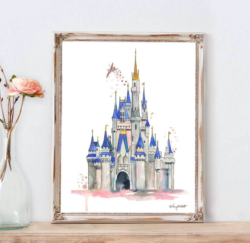 This Disney Castle Watercolor Print on Etsy Is a Bestseller!