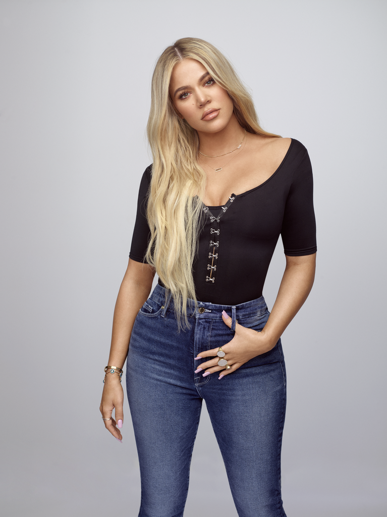 """POPSUGAR: Good American campaigns always feature inspiring women of all different sizes. What does your brand look for when it comes to recruiting women for the #GoodSquad? Khloé Kardashian: We're always looking for women that are confident, stand up for their beliefs, and embrace their beauty from within. We're so excited to find new amazing women to add to our #GoodSquad family. I love using Instagram to find and engage with people that love and wear Good American. That's how some of our conversations with current Squad members have started! PS: What has been the most memorable response you've had to Good American? Or a moment where you thought, """"OK, we're doing what we set out here to do""""? KK: What's special about the brand is that we really listen to and value our customer feedback. I really feel like we're achieving our goals when we solve problems for customers that shouldn't be problems in the first place. In September, we launched a completely new size: size 15. The development of this size came from customer feedback and the high return rate we saw in sizes 14 and 16. Through customer data, we observed that the return rates for these sizes were 50 percent higher than the return rates for other sizes. We found that a lot of customers were too big for a 14 but too small for a 16. We're proud that women can now shop size 15. A few other moments this year have really hit home for me, especially Good Mama, given my pregnancy and the launch of activewear, which ties into my passion for fitness. We did an event at the Times Square location of SIX:02 to launch Performance, and the energy there was insane! Seeing people lined up outside the store really touched me."""